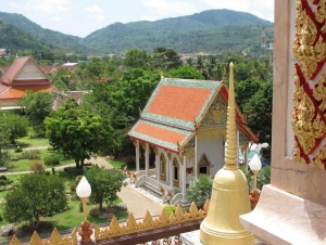View from high up on Wat Chalong temple grounds