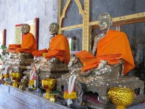 The three revered monks Luang Pro Chaem, Luang Por Gluam and Luang Por Chuang.