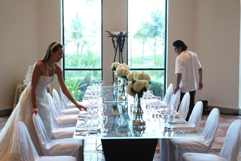 Wyndham Rio Mar Wedding Table Setting