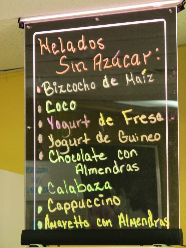 Jendys Heladeria Artesanal Sugar Free Varieties