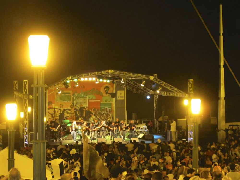 San Sebastian Street Festival Stage