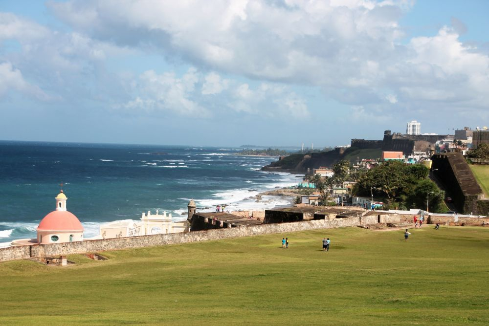 View of Cemetery and La Perla from El Morro