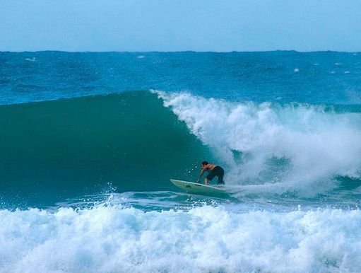 Surfing Aguadilla (Credit: Josh Bozrath)