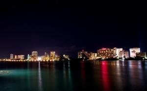 Ashford Ave. in Condado at night