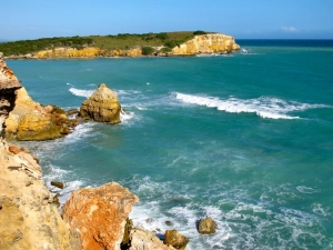 Cliffs near Cabo Rojo, Puerto Rico