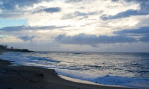 Early AM Montones Beach in Isabela, Puerto Rico
