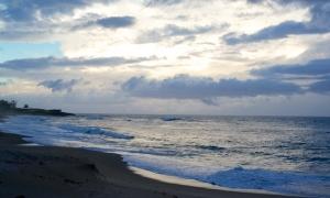 Early AM Montones Beach in Isabela, Puerto Rico