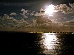 Full Moon over Piñones, Puerto Rico