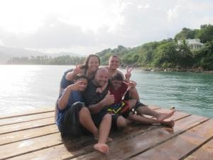 Fun on pier in Maunabo, Puerto Rico