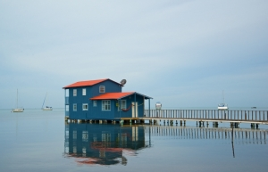 House at end of Pier in Boquerón
