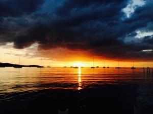 Last sunset of 2013 Boquerón Beach