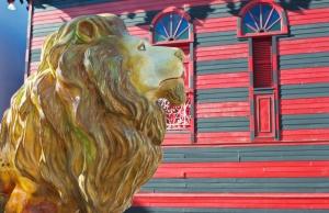 Lion at Plaza Las Delicias in Ponce