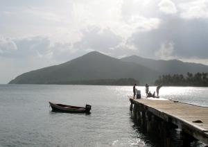Pier in Maunabo, Puerto Rico