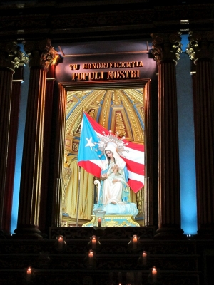 Shrine to Virgen Mary at San Juan Cathedral