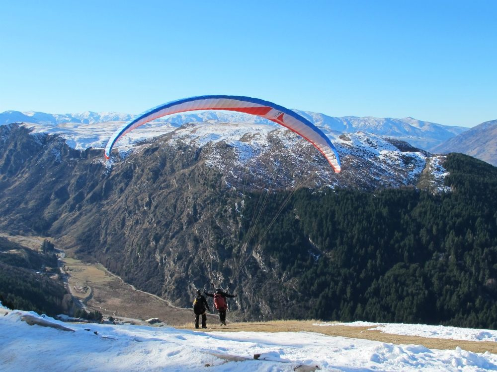 Paragliding from the Skyline Gondola