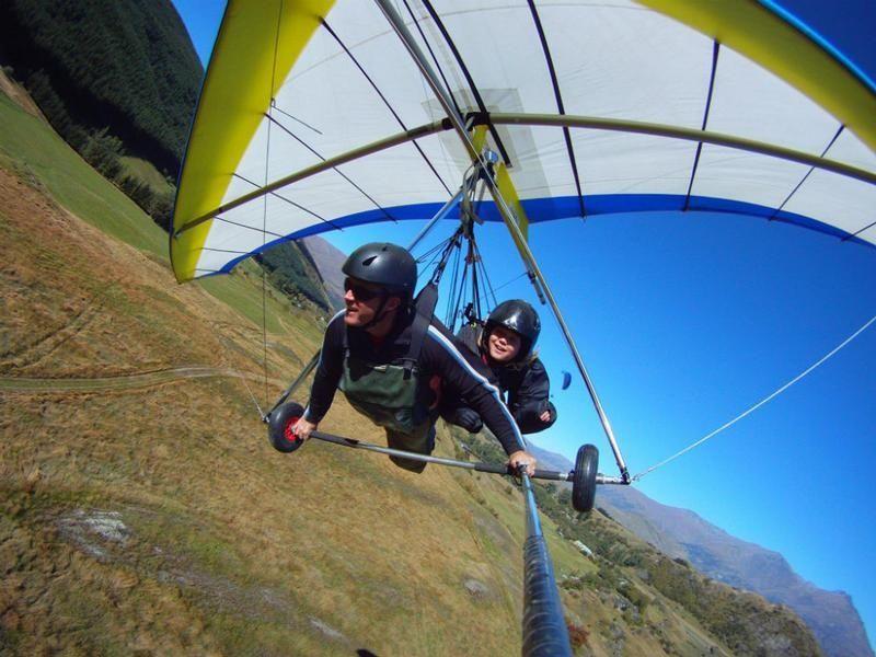 Hang gliding from Coronet Peak
