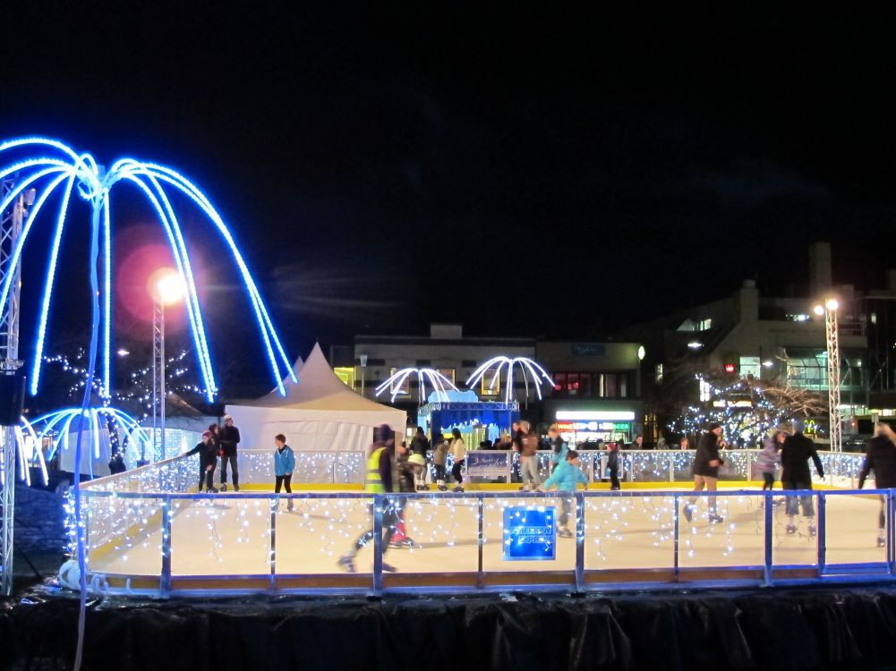Ice Rink In The Village Green