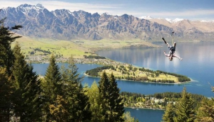 Ziplining in Queenstown