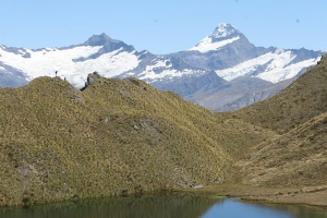Rob Roy and Mt Aspiring from the Alpine Lakes