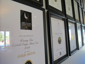 Many awards for the vineyards fine wines