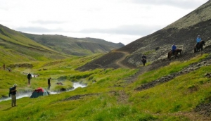 Reykjadalur, the steamy valley, a perfect place for outdoorsmanship and bathing!