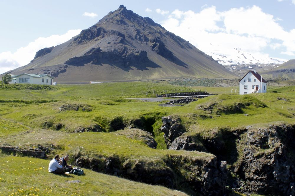 Arnarstapi, in Snæfellsnes, is a wondrous place surrounded by strange rock formations