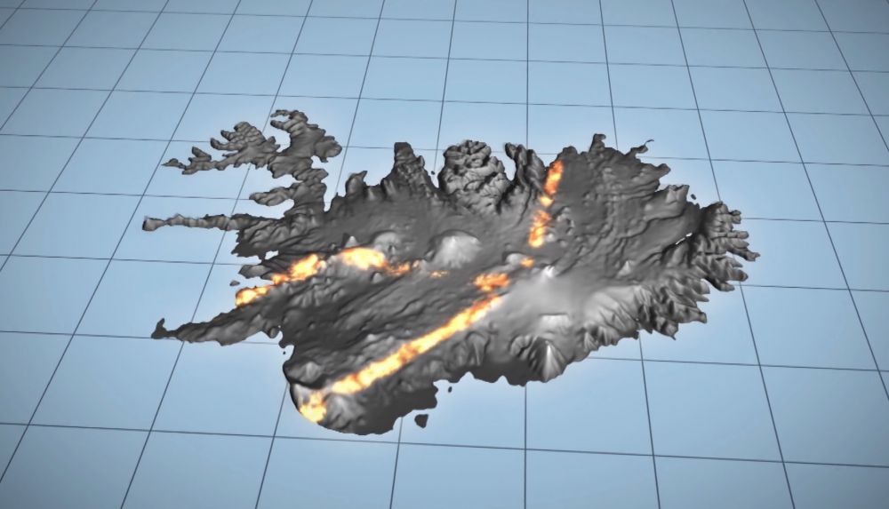 NOTE: Not an actual photo. Iceland is not constantly on fire. (It