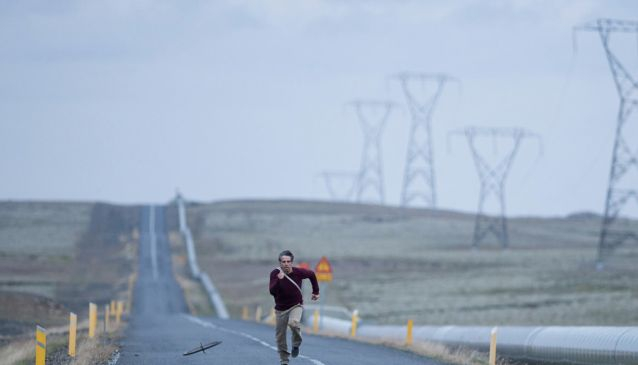 Ben Stiller on location by the Nesjavellir Power Plant while filming 2013 blockbuster Secret Life of Walter Mitty