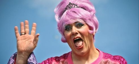 Mayor Jón Gnarr appears in drag at the Reykjavik Gay Pride parade every year.