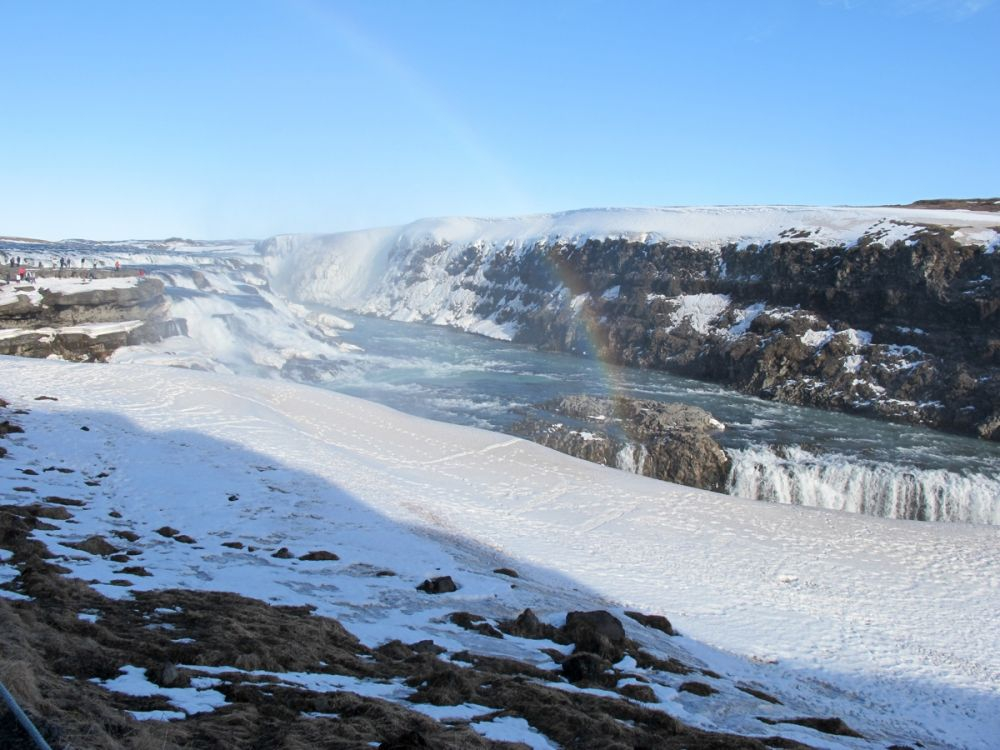 Gullfoss Waterfall, part of the Golden Circle, is beautiful whether in summer or winter!