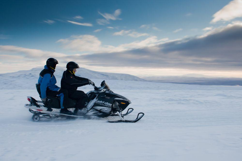 Awsome Snowmobiling Adventure on Langjokull glacier near Gullfoss on the Golden Circle