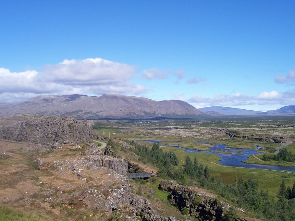 Thingvellir (Parliament Fields): The meeting place of Althing, the ancient Icelandic Viking Parliament