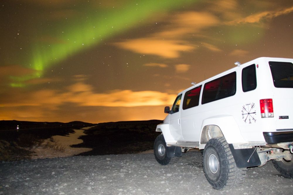 A super jeep is a great way to get around on day trips around Iceland