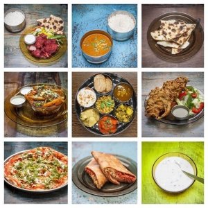 A sampling of the best dishes on offer at Austurlandahradlestin, Indian Restaurant in Iceland
