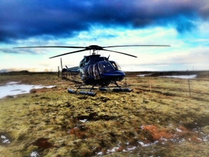 Amazing sky and a great helicopter!