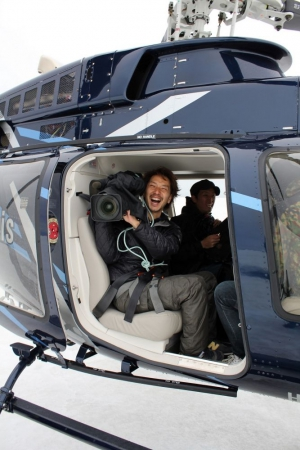 Shooting video on a helicopter is SO FUN!