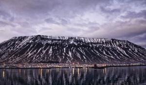 The stunning view of Ísafjörður accross the Skutulsfjörður bay