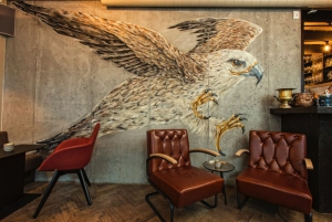 Awesome graffiti decoration of the Icelandic Eagle in Kol Restaurant