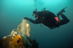 Feeling the heat at the underwater fumarole Strytan