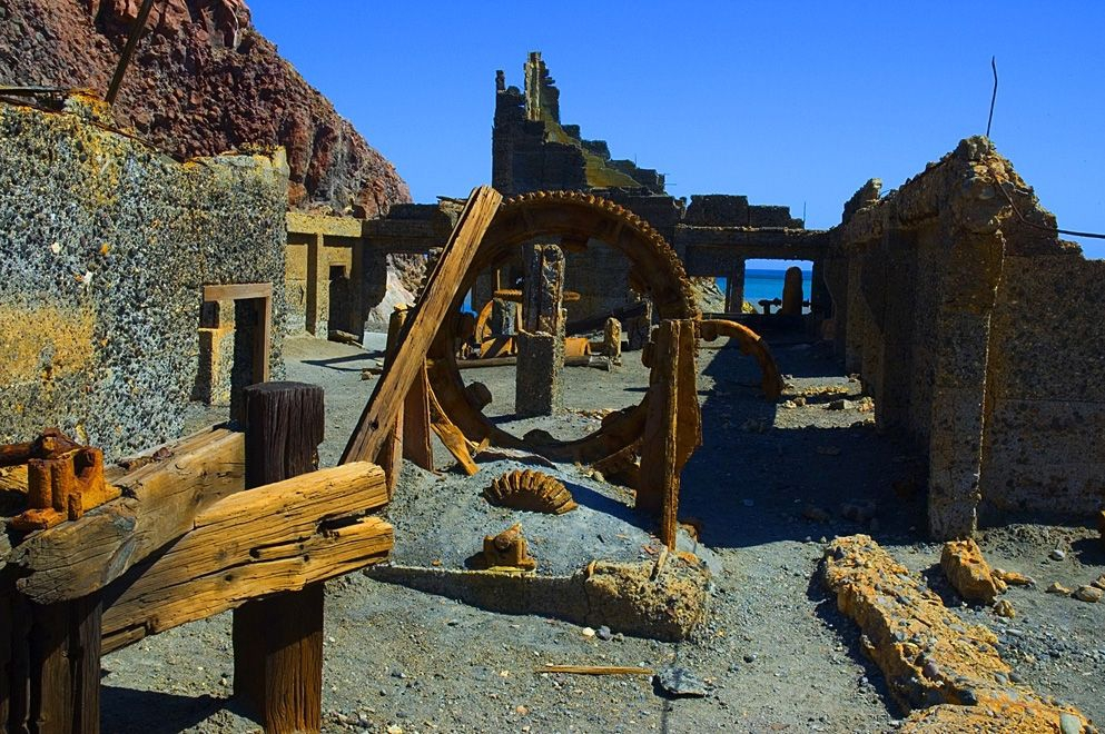 Remains of the old mine on Whakaari. Photo: White Island Tours