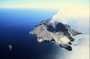 Ariel view of White Island