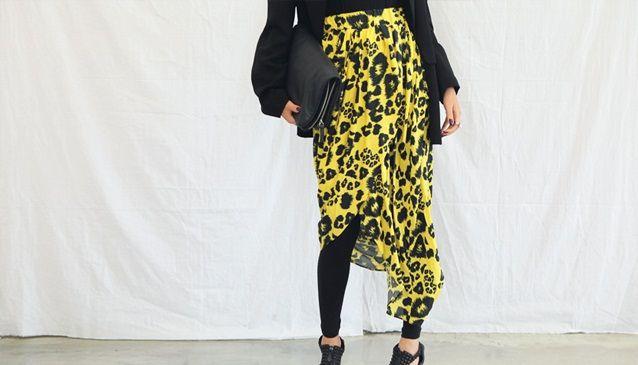 Leopard Wrap Skirt; STYLENANDA