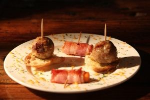 Meatball and bacon appetizers