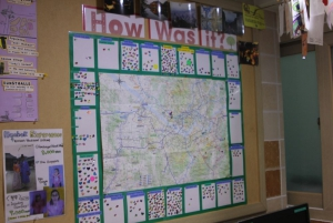 Bulletin Board with lots of great information for travelers