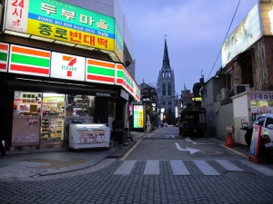 Bongwoori is located down this little street. Just walk down 50 meters and its on your left. Right next to Bistro Bon.