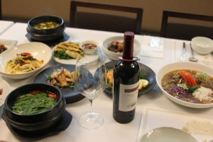 Korean food and wine