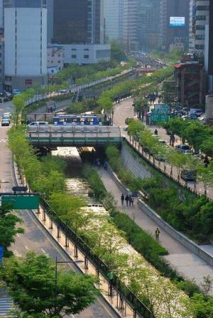 Cheonggye Stream Birds Eye View