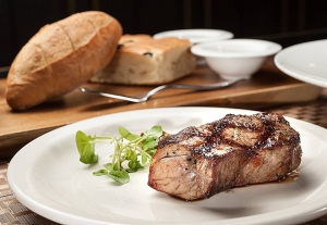 Steak from the restaurant