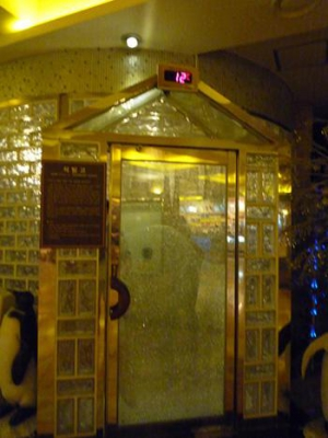 Ice room entrance