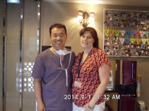 Doctor Koo with a patient, Shannon